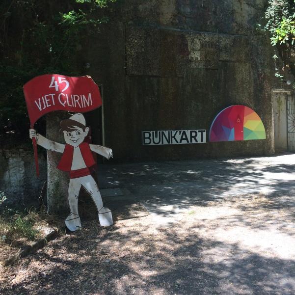 Bunk'Art's entrance.