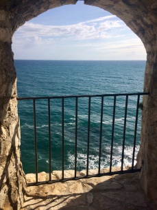 Viewing point inside the Old Town of Ulcinj.