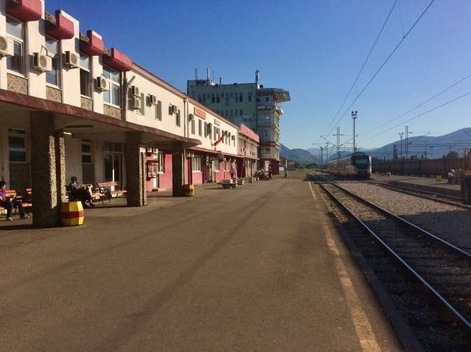 Podgorica's train station.