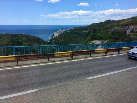 The road from Ulcinj to Budva.