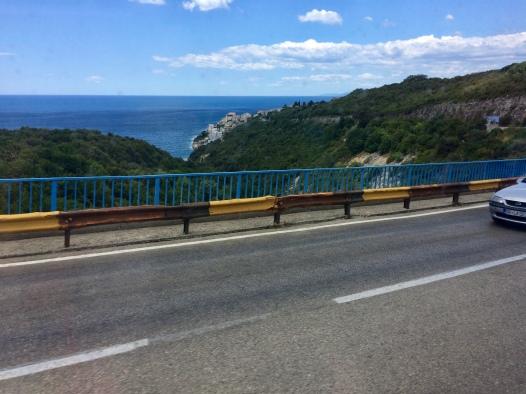 The road from Ulcinj to Budva.