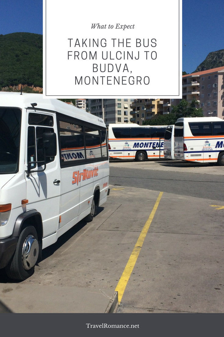 Taking the Bus from Ulcinj to Budva, Montenegro