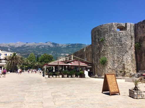 Just outside the walls of Budva's Old Town.