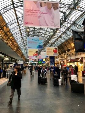 "The main ""Grande Lignes"" terminal inside the Gare de l'Est."