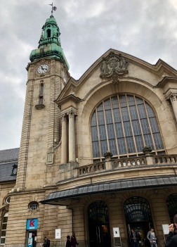 Exterior of the Gare de Luxembourg (City).