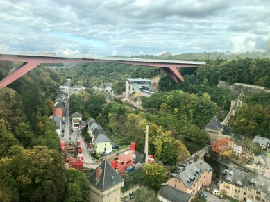 View of the Pont Grande Duchesse from the Pfaffenthal lookout point.