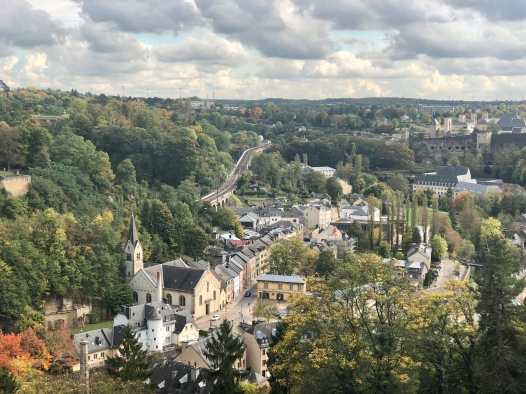 View from Luxembourg's Pont Grande-Duchesse Charlotte.